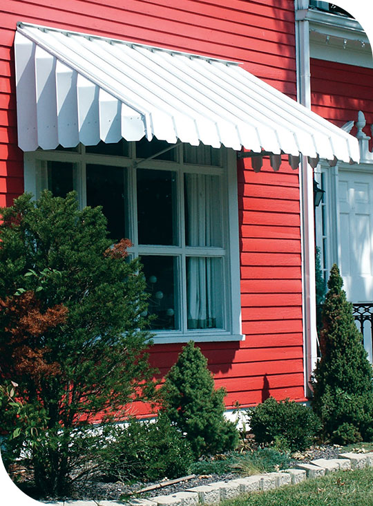 aluminum awning on home
